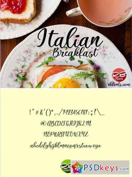 Italian Breakfast Script Font