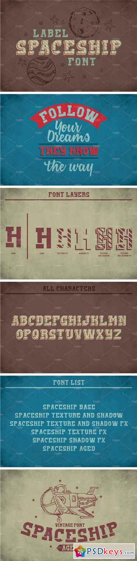 Spaceship Vintage Label Typeface 2295151