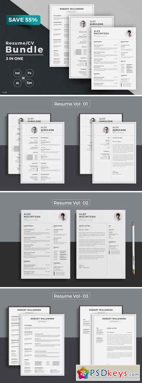 resume cv bundle 1537287  u00bb free download photoshop vector