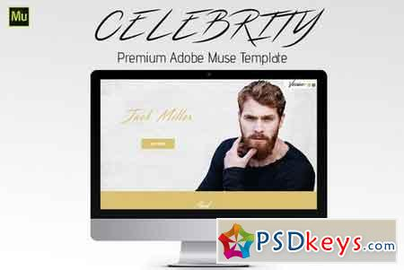 Celebrity - Adobe Muse Template 1476417 » Free Download