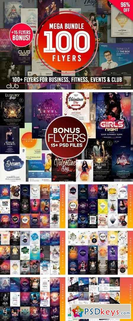 MEGA BUNDLE 100+ Flyers Tempates 2109141 » Free Download