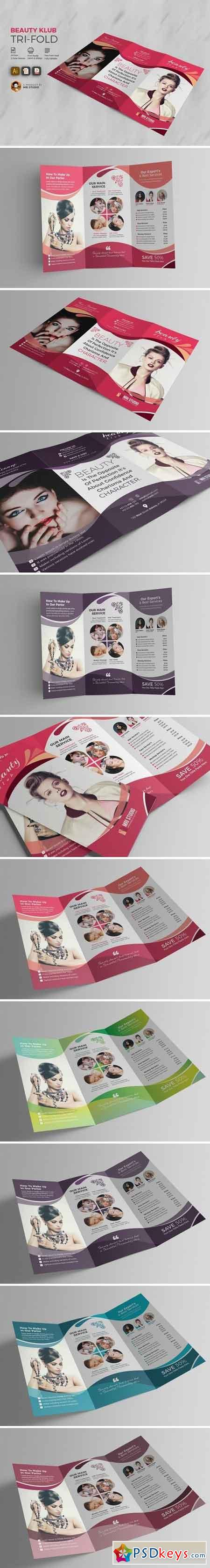 Beauty Club Salon Tri-Fold 1537311