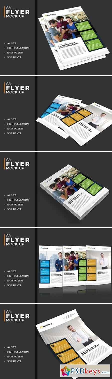 Photorealistic Flyer Mockup Pack 1590368