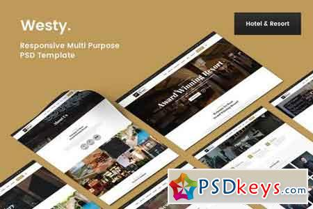 Westy Hotel & Resort PSD Template