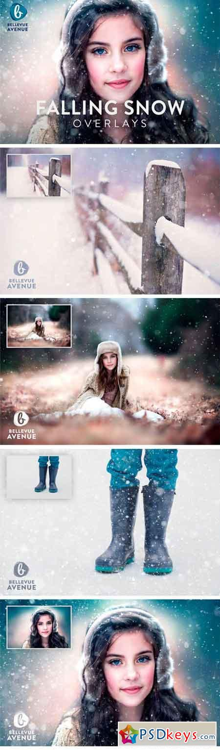 Falling Snow Overlays (Real) 2294895