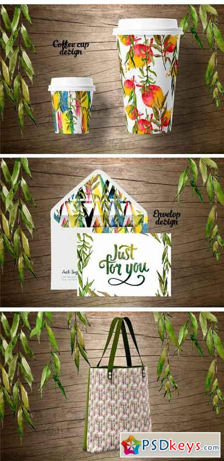 Willow Branches JPG Watercolor Set 2316172