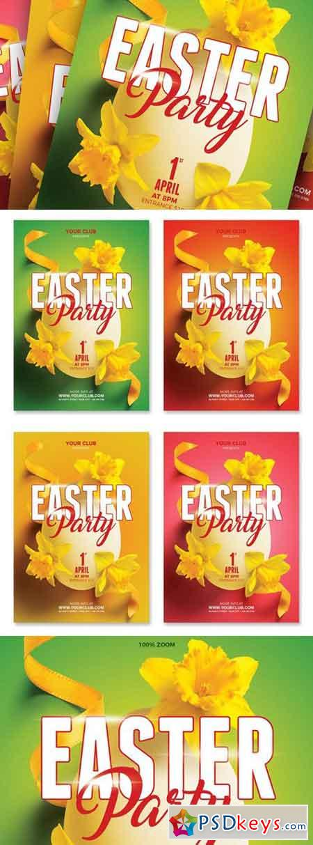 Easter Spring Party A5 Flyer 2359411