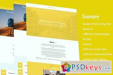 Tourniry HTML5 Travel Tours Template 2032677