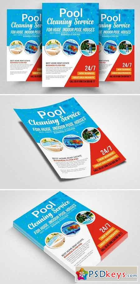 Swimming Pool Cleaning Flyer 2359935