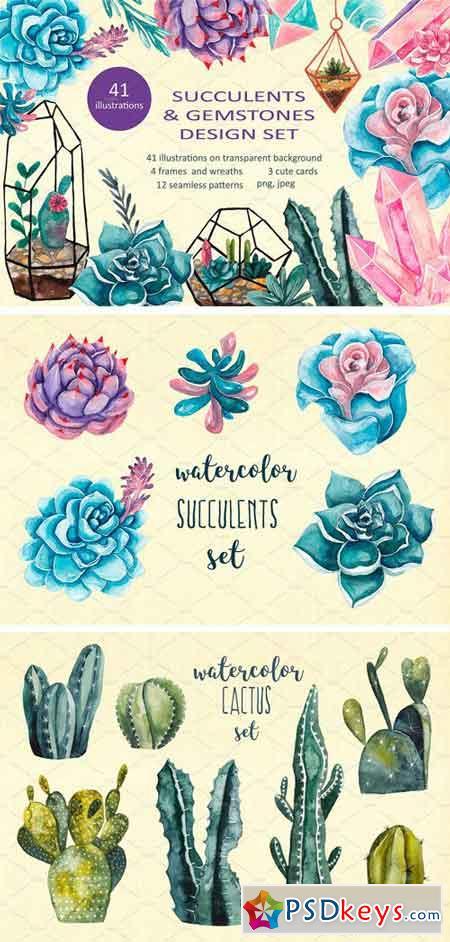 Succulents & Gemstones Design Set 2350650