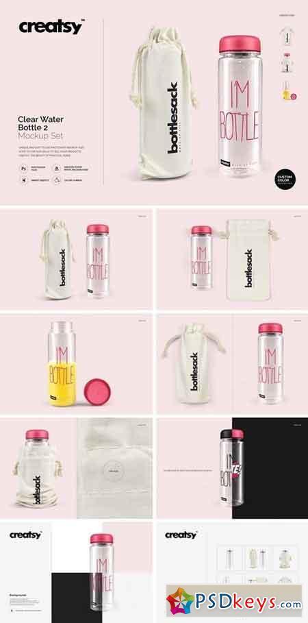 00ce5fe1b991d Clear Water Bottle Mockup Set 2 2001116 » Free Download Photoshop ...