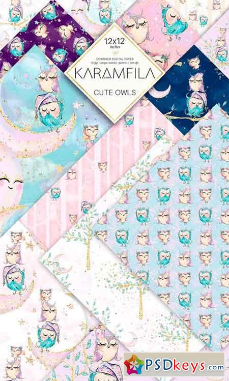 Cute Owls Patterns 2349975