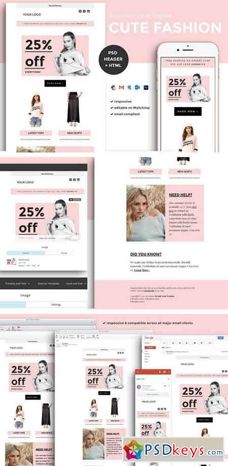 Fashion Email Template (psd + html) 1540885