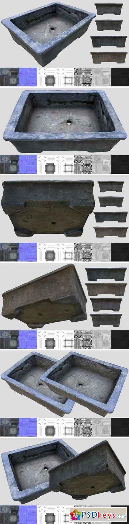 Cement Bonsai Pot 1569882