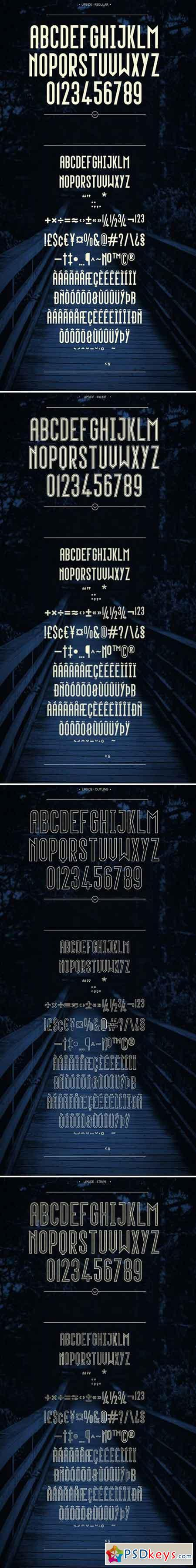 Upside - Complete Family (4 fonts) 1647981