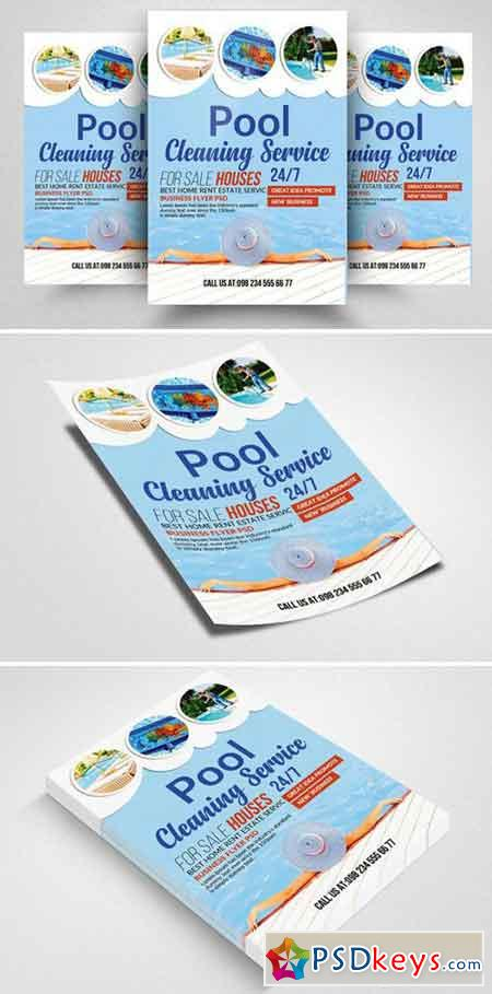 Swimming Pool Cleaning Flyer Templat 2356802