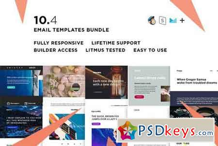 10 Email templates bundle IV 2356861
