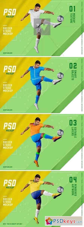 Soccer Strike PSD Mockup Template 869554
