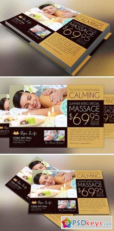 Spa Massage Flyer Template 1570465