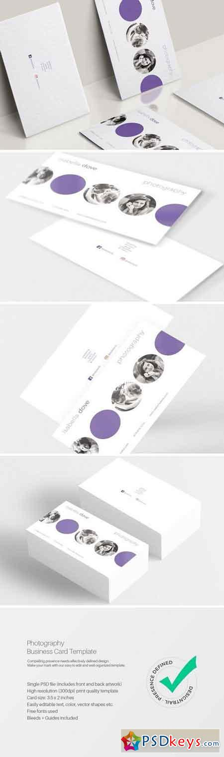 Photography Business Card Template 1569861