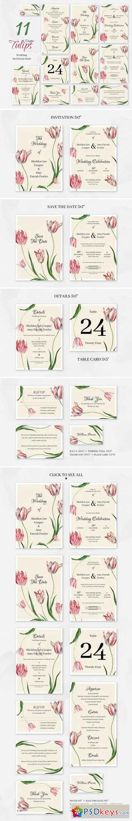 Tulips Wedding Invitation package 2357499