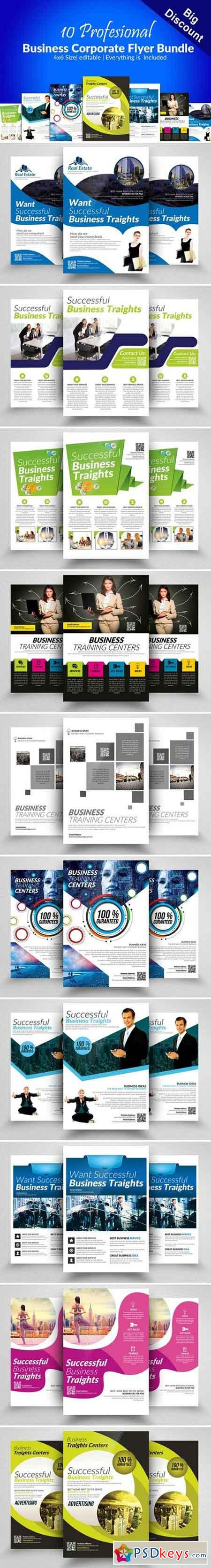10 Multi Use Business Flyer Bundle 2352339