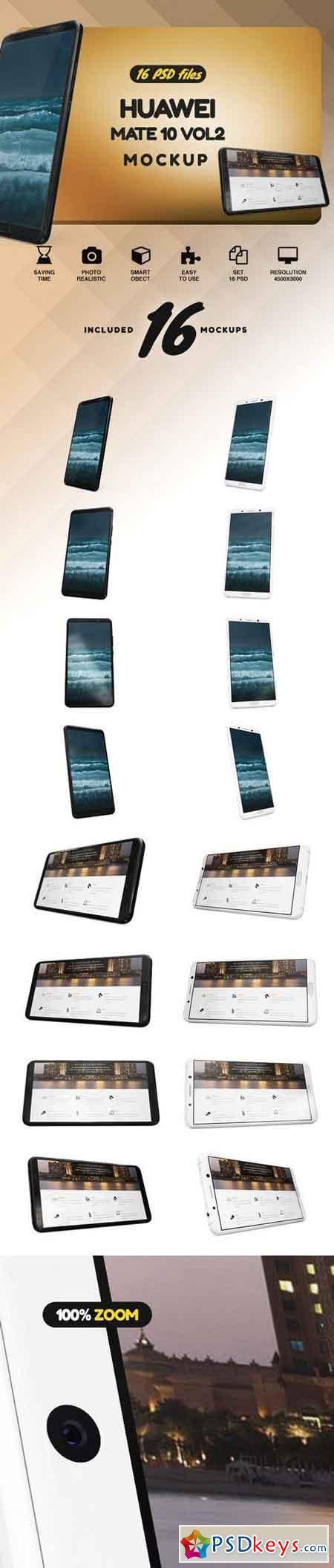 Huawei Mate 10 Vol.2 Mockup 2142308