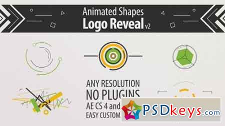 Shape Animation Logo Reveal v2 19480821 - After Effects Projects