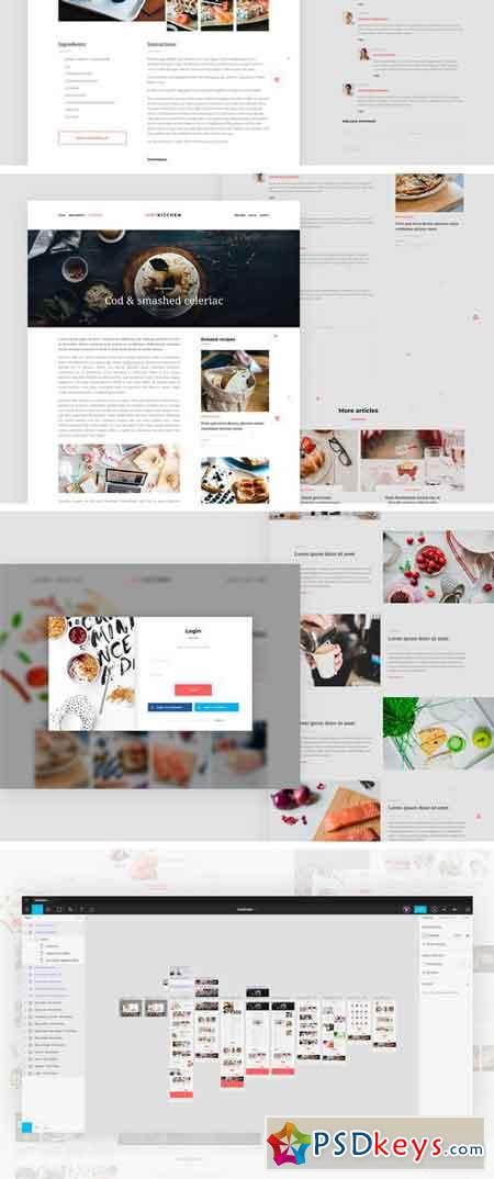 HotKitchen UI UX Culinary Templates 2337344