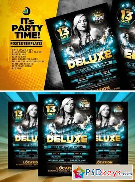 Night Deluxe Flyer Template 1569639