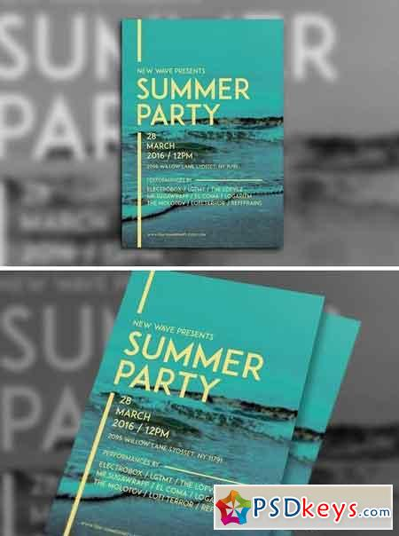 Simple Summer Party Flyer 1397177