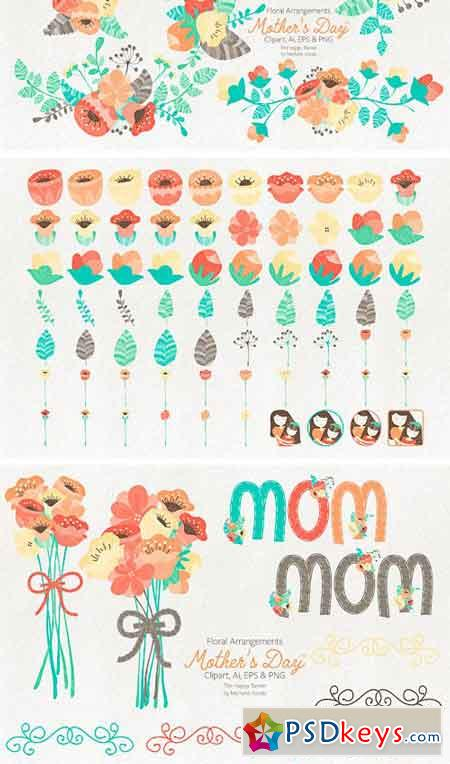 Mother's Day Clipart and Vector Grap 2350866