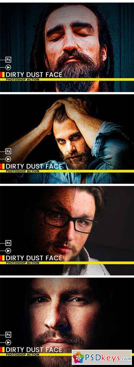 Dirty Dust Face Photoshop Action 2396895