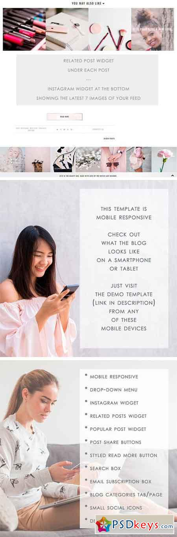 Premade Blogger Template - Beauty 2371148