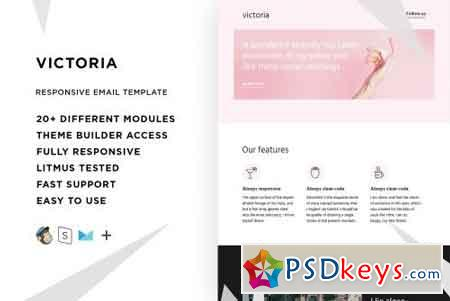 Victoria – Email template + Builder 2170446