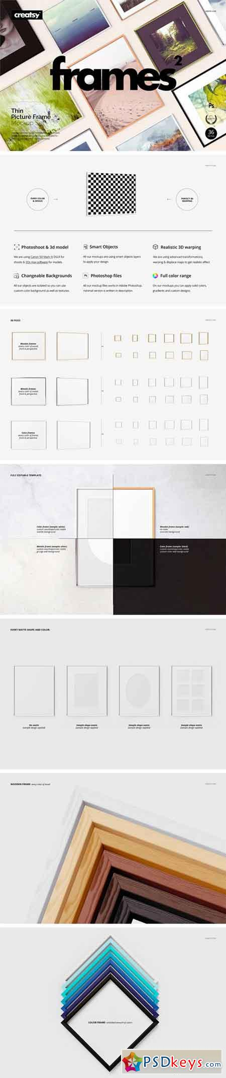 Picture Thin Frame Mockup Set 2371146