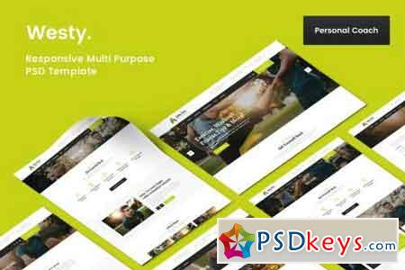 Westy Personal Coach PSD Template