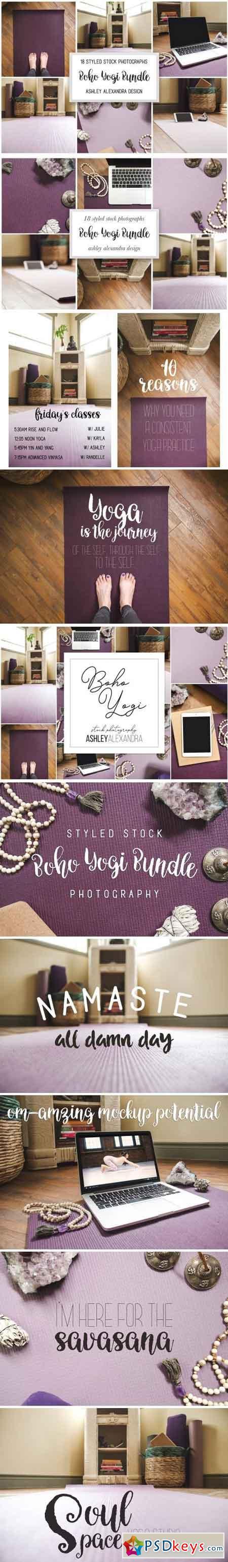 Boho Yogi Bundle Stock Photography 1568476
