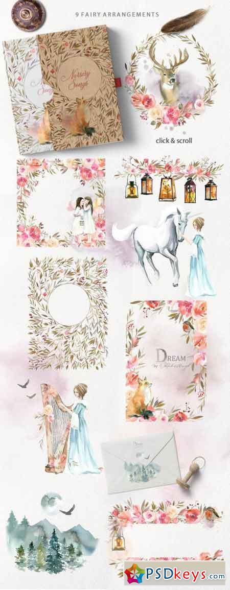 Dream - Fairy Watercolor Collection 2079985