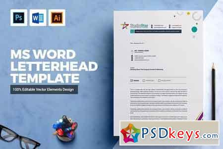 Ms Word Letterhead Template 2142225 Free Download Photoshop Vector