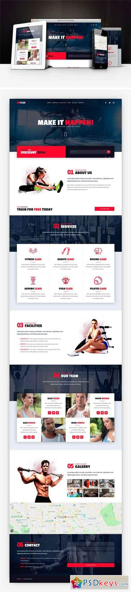 Reflex - Fitness Gym Muse Template 2350855