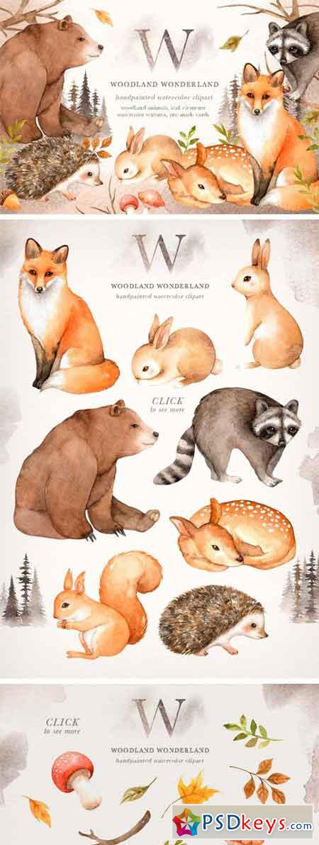 Woodland Wonderland Clip Art 2370479