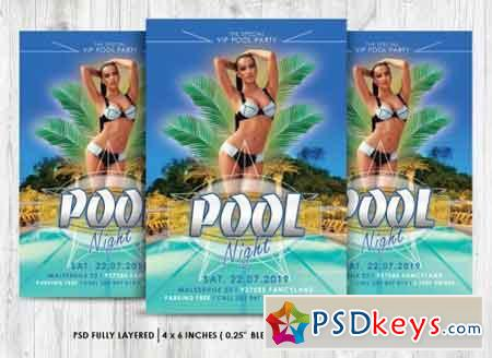 Pool Party Flyer PSD 1578449