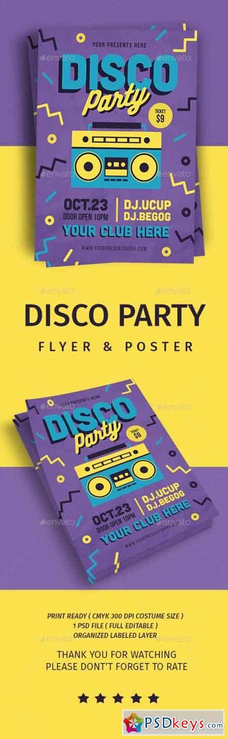 Disco Party Flyer 21705142