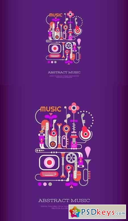 Abstract Music vector banner design