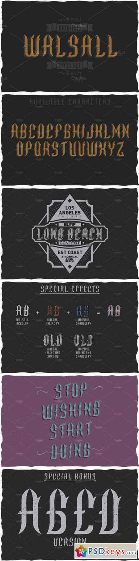 Walsall Vintage Label Typeface 1638307