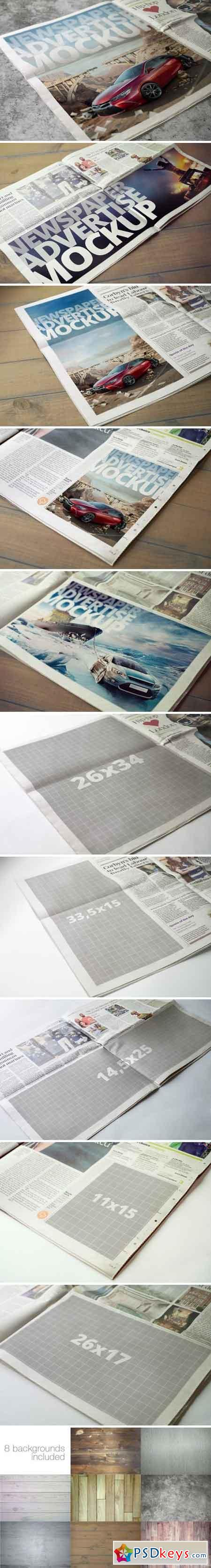 Newspaper Advertise Mockup v2 2144194