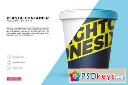Plastic Food Container Mock-Up Template