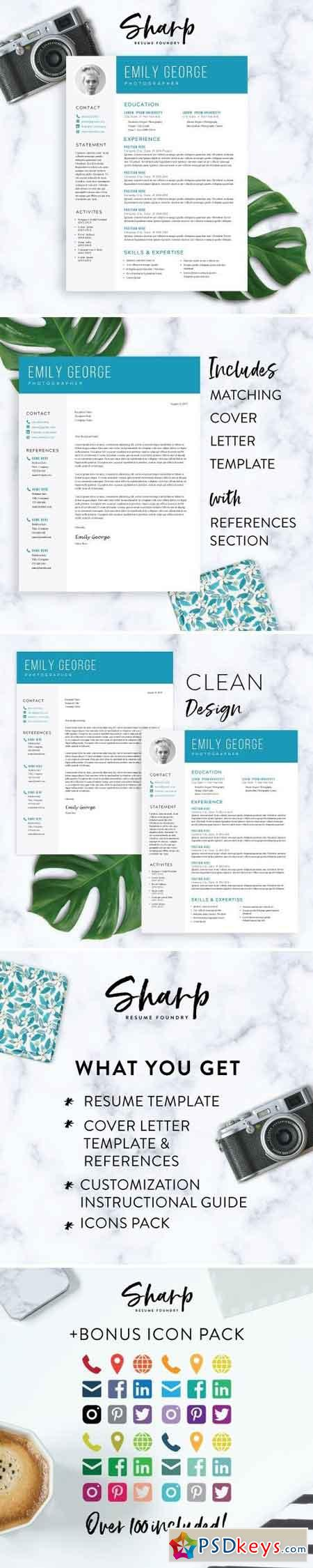 Modern Resume Template For Word   Free Download Photoshop
