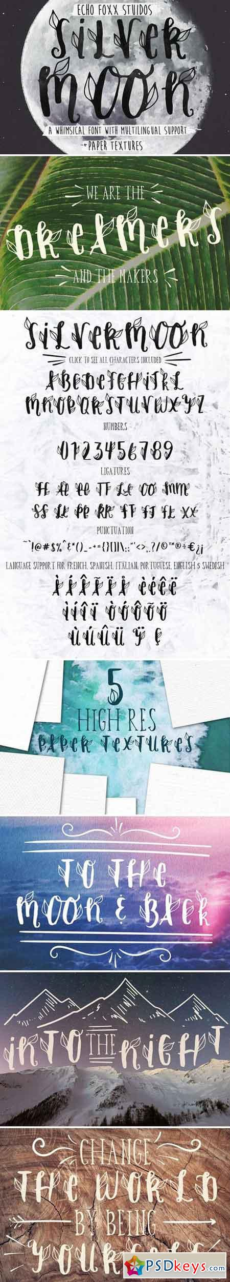 Silver Moon Font + Extras 2355658